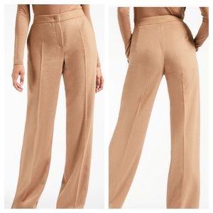 MaxMara Virgin Wool Trousers Camel 12 x 35 Long